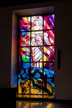 Glasfenster Auferstehung Hiphaus