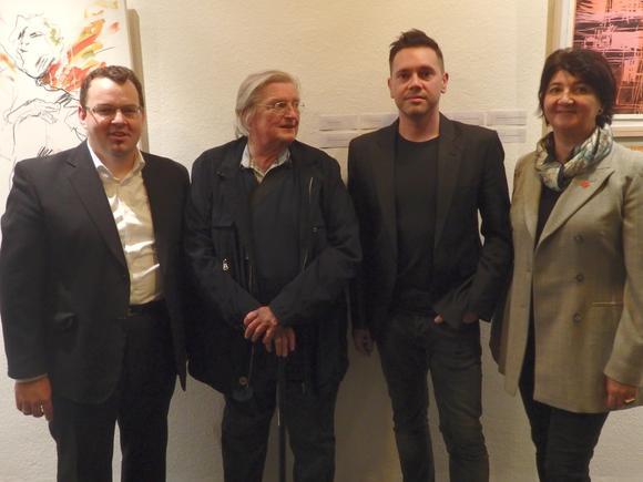 Bildungshaus St. Hippolyt Eröffnung der Ausstellung Franz Moser, Herwig Zens, Marcus Hufnagl, Mirsada Zupani