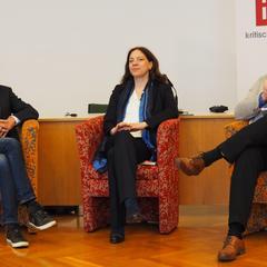 Das abschließende Podium am Samstag mit Bernd Hufnagl, Maren Berka und Erich Wagner-Walser