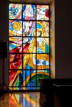 Glasfenster Menschwerdung Hiphaus