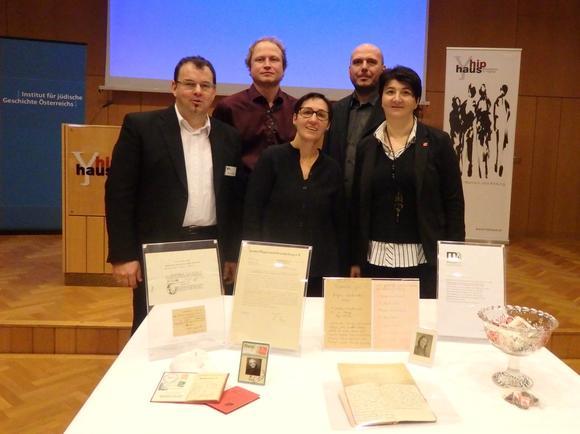 Vertreter von Bildungshaus, Institut für jüdische Geschichte, Stadt St. Pölten