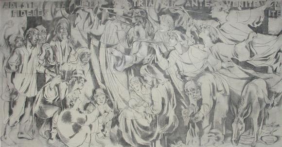 Jozsef V: Pitk, Weihnachtsbild im Ausspracheraum des Bildungshauses St. Hippolyt