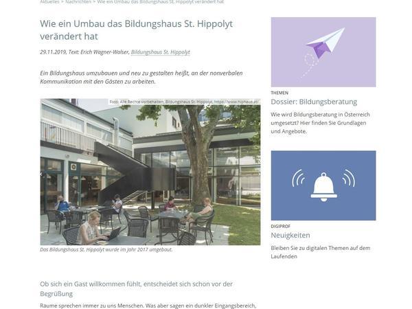 Wie ein Umbau das Bildungshaus St. Hippolyt verändert hat